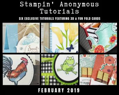 """Monthly Tutorial Bundles contain 6 EXCLUSIVE """"better than flat"""" projects (fun fold cards or 3-D items) created by myself and 5 other talented, but anonymous Stampin' Up! demonstrators. Place an order in the month of February, and get this bundle for free! Or choose the option to purchase them for just $9.95…#stampyourartout #stampinup - Stampin' Up!® - Stamp Your Art Out! www.stampyourartout.com"""