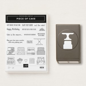 The awesome Cake Builder Punch & coordinating Piece of Cake Stamp Set! #stampyourartout