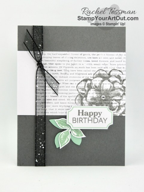 Click here to see more photos of this pretty card I created with the April 2019 Sentimental Rose Paper Pumpkin kit (the one I designed to send to a few of my Paper Pumpkin subscribers). #onestopbox #stampyourartout #stampinup - Stampin' Up!® - Stamp Your Art Out! www.stampyourartout.com