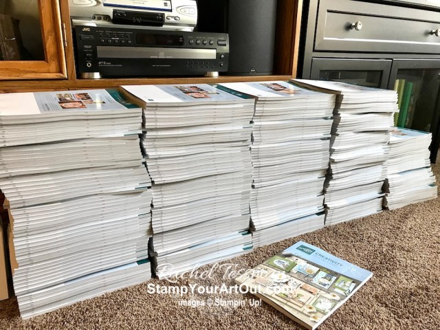 Getting those 250 2019-20 Annual Catalogs out the door this week! #stampyourartout #stampinup - Stampin' Up!® - Stamp Your Art Out! www.stampyourartout.com
