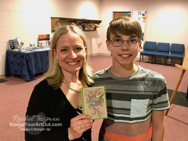 I'm excited to share with you what my son and I created with the May 2019 Hugs From Shelli Paper Pumpkin Kit. He gave one of his cards to his piano teacher. Click here for photos of all these projects, a video with directions, measurements and tips for making the cards, and a complete product list linked to my online store! #onestopbox #stampyourartout #stampinup - Stampin' Up!® - Stamp Your Art Out! www.stampyourartout.com