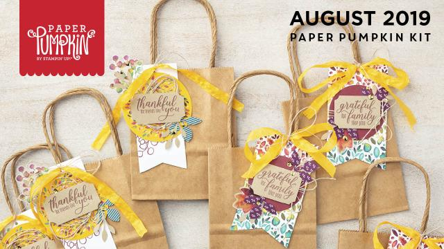 The August 2019 The Gift of Fall Pumpkin kit. #onestopbox #stampyourartout #stampinup - Stampin' Up!® - Stamp Your Art Out! www.stampyourartout.com