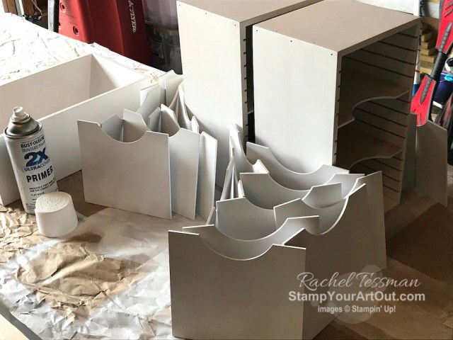Painting my new Stamp-n-Storage units. - Stampin' Up!® - Stamp Your Art Out! www.stampyourartout.com