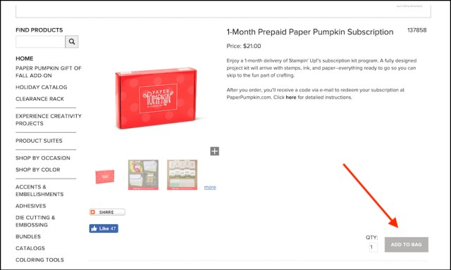 How to order and redeem prepaid paper pumpkin subscriptions! - Stampin' Up!® - Stamp Your Art Out! www.stampyourartout.com