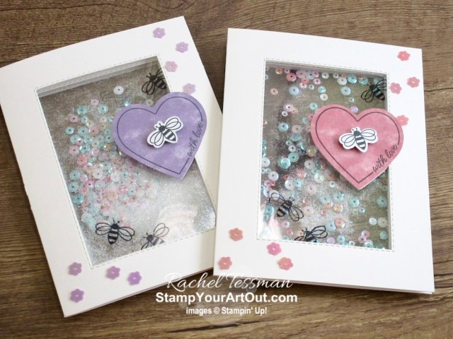 """Click here to see & get details for this amazing see-through shaker card that I made with the January 2020 I'll Bee Yours Paper Pumpkin Kit. Plus you can see several other alternate project ideas created with this kit by fellow Stampin' Up! demonstrators in our blog hop: """"A Paper Pumpkin Thing""""! - Stampin' Up!® - Stamp Your Art Out! www.stampyourartout.com"""