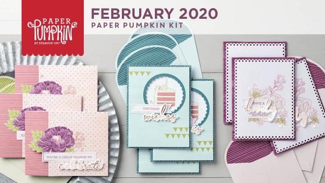 The February 2020 Lovely Day Paper Pumpkin Kit. - Stampin' Up!® - Stamp Your Art Out! www.stampyourartout.com