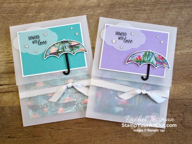 Click here to see a vellum-based slide-out pocket fun fold using the Lily Impressions Designer Paper, the Under My Umbrella Stamp Set, and Umbrella Builder Punch. You'll be able to access measurements, a how-to video with tips and tricks, other close-up photos, and links to all the products I used.  - Stampin' Up!® - Stamp Your Art Out! www.stampyourartout.com