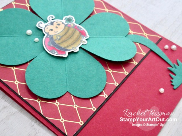 Punch art with our heart punches! I made a few different cards using the heart punches, the Little Ladybug Stamp Set, and the Christmastime is Here Designer Paper. And none of them are Valentine or Christmas related. Click here to see more photos, get measurements & directions, and shop for supplies from my online store so you can recreate them for yourself. - Stampin' Up!® - Stamp Your Art Out! www.stampyourartout.com