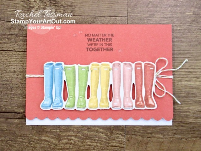 "Click here to see & get details for how to more than double the note cards in your March 2020 No Matter the Weather Paper Pumpkin kit by adding just a pack of Scalloped Note Card & Envelopes. Plus you can see several other alternate project ideas created with this kit by fellow Stampin' Up! demonstrators in our blog hop: ""A Paper Pumpkin Thing""! - Stampin' Up!® - Stamp Your Art Out! www.stampyourartout.com"