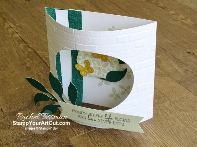 """Click here to see & get details for how to make an Arch Fold card and how to get 20 more cards from the extra pieces in your April 2020 My Wonderful Family Paper Pumpkin kit by adding a pack of Magnolia Lane Memories & More Large Specialty Cards & Envelopes. Plus you can see several other alternate project ideas created with this kit by fellow Stampin' Up! demonstrators in our blog hop: """"A Paper Pumpkin Thing""""! - Stampin' Up!® - Stamp Your Art Out! www.stampyourartout.com"""