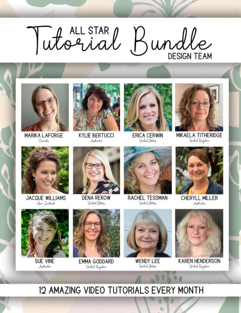 Here are the designers of the All Star Tutorials for July - December 2020. We are excited to share with you. Please click here to see how you can get your hands on 12 creative paper crafting project ideas each month. - Stampin' Up!® - Stamp Your Art Out! www.stampyourartout.com