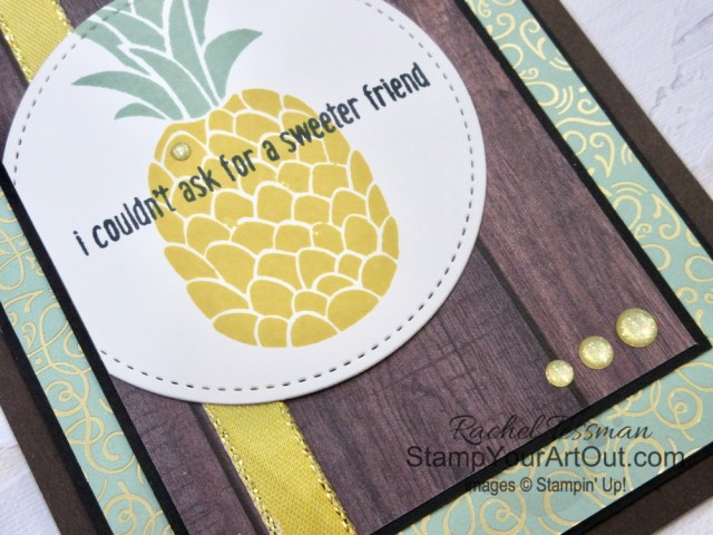 Click here to see how to use Stampin' Blends alcohol-based markers with Fine Tip Glue to embellish greeting cards stamped with images from the Cute Fruit Stamp Set. These cards also show off fun patterns from the In Good Taste and Ornate Garden packs of designer papers. You'll be able to access measurements, a how-to video with tips and tricks, other close-up photos, and links to all the products I used. - Stampin' Up!® - Stamp Your Art Out! www.stampyourartout.com