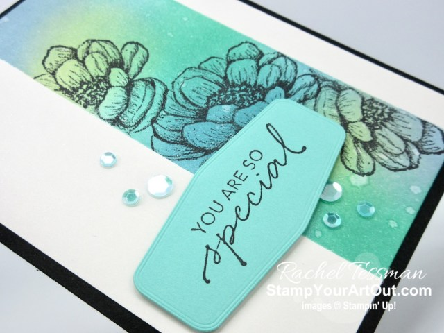Click here to see a couple ways to use water on sponged-ink backgrounds to lighten and create texture and layers (waterlifting) with the Tasteful Touches Stamp Set and coordinating Tasteful Labels Dies from the new In Good Taste Suite. You'll be able to access measurements, a how-to video with tips and tricks, other close-up photos, and links to all the products I used. - Stampin' Up!® - Stamp Your Art Out! www.stampyourartout.com