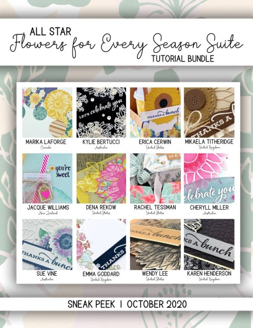 Here are the Flowers For Every Season All Star Tutorial Bundle Peeks. Place an order in the month of October 2020 and get this bundle of 12 fabulous paper crafting project tutorials for free! Or purchase it for just $15. - Stampin' Up!® - Stamp Your Art Out! www.stampyourartout.com