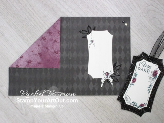 Click here to see how I used products from the Magic In This Night Suite (Hollows Night Stamp Set, Halloween Magic Dies, Magic In This Night Designer Paper, & Iridescent Pearls) to make some non-Halloween themed Angled Pocket Cards. You'll be able to access measurements, the how-to video, other close-up photos, and links to the products I used. - Stampin' Up!® - Stamp Your Art Out! www.stampyourartout.com