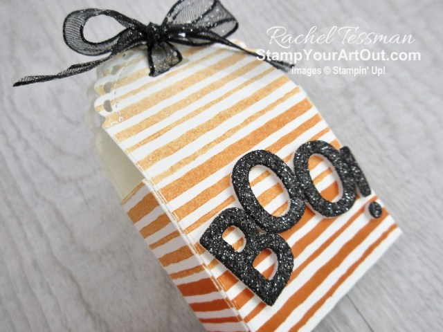 All Star Tutorial Blog Hop September 2020 featuring the Playing With Patterns Suite of products from Stampin' Up!'s 20-21 Annual Catalog… Get directions, measurements, and a list of supplies used for the Halloween-themed treat containers I created and shared. Learn how to grab up the awesome exclusive tutorial bundle. AND see other great ideas with this suite shared by the 11 others in our tutorial group! - Stampin' Up!® - Stamp Your Art Out! www.stampyourartout.com