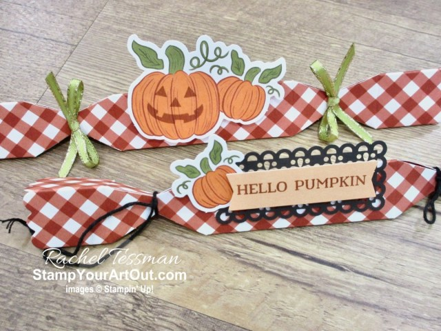 "I'm excited to share with you what I created with the September 2020 ""Hello Pumpkin"" Paper Pumpkin Kit – varying the sizes of the boxes, doubling the treat containers to get 40, napkin ring and luminary for fall dinner, and several pop-up cards including a multi pop-up gate fold card! Click here for photos of all these projects, a video with directions, measurements and tips for making them, and a complete product list linked to my online store! Plus you can see several other alternate project ideas created with this kit by fellow Stampin' Up! demonstrators in our blog hop: ""A Paper Pumpkin Thing""! - Stampin' Up!® - Stamp Your Art Out! www.stampyourartout.com"