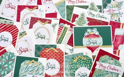 Up to 95 Holiday Cards from the Tag Buffet Kit!