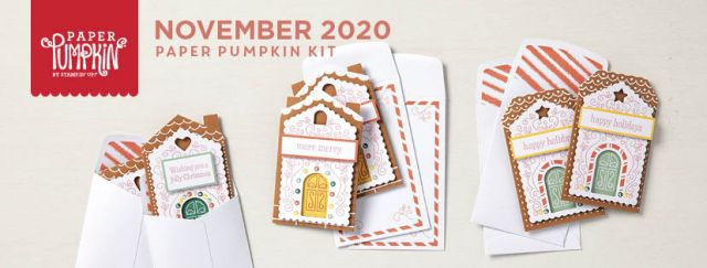 The November 2020 Jolly Gingerbread Paper Pumpkin Kit. - Stampin' Up!® - Stamp Your Art Out! www.stampyourartout.com