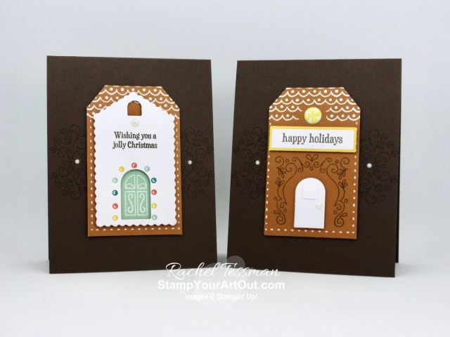 I'm excited to share with you some alternate project ideas I came up with using the contents of the November 2020 Jolly Gingerbread Paper Pumpkin Kit. I doubled the mini cards in the kit to get 30 full-size holiday cards, and I made a cute & easy treat box, a couple variations on the intended kit projects, and an adorable 12x12 scrapbook page layout! Click here for photos of all these projects, a video with directions, measurements and tips, and a complete product list linked to my online store! - Stampin' Up!® - Stamp Your Art Out! www.stampyourartout.com