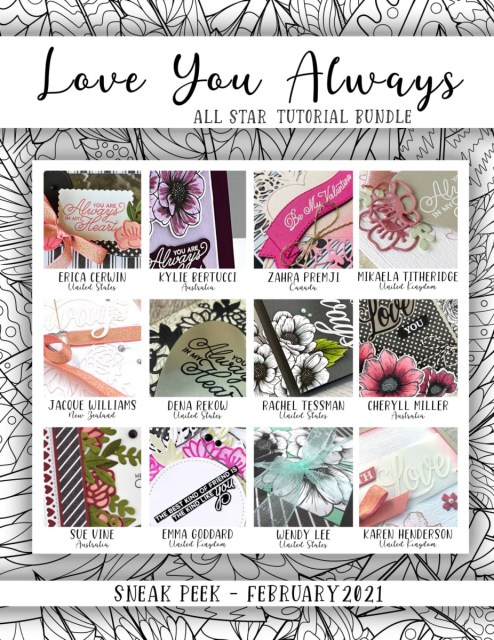Here are the Love You Always All Star Tutorial Bundle Peeks. Place an order in the month of February 2021 and get this bundle of 12 fabulous paper crafting project tutorials for free! Or purchase it for just $15. - Stampin' Up!® - Stamp Your Art Out! www.stampyourartout.com