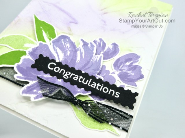 Those Blending Brushes are amazing tools. I'm so glad Stampin' Up! will have them available starting January 5th, 2021. They were fun to play with during my Box Opening video that aired November 9th. And here is my finished Fine Art Floral card! Access more photos, measurements, directions, and a supply list by clicking here. - Stampin' Up!® - Stamp Your Art Out! www.stampyourartout.com