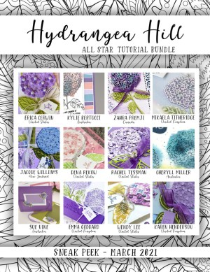 Here are the Hydrangea Hill All Star Tutorial Bundle Peeks. Place an order in the month of March 2021 and get this bundle of 12 fabulous paper crafting project tutorials for free! Or purchase it for just $15. - Stampin' Up!® - Stamp Your Art Out! www.stampyourartout.com