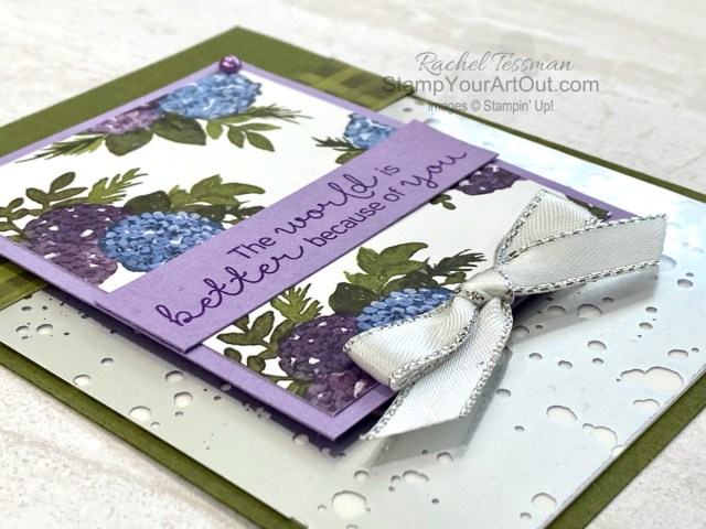 It's easy to make beautiful cards and projects with the Hydrangea Hill Suite. This is a card we made during the Silver Elite Retreat. Access more photos, measurements, directions, and a supply list by clicking here. - Stampin' Up!® - Stamp Your Art Out! www.stampyourartout.com