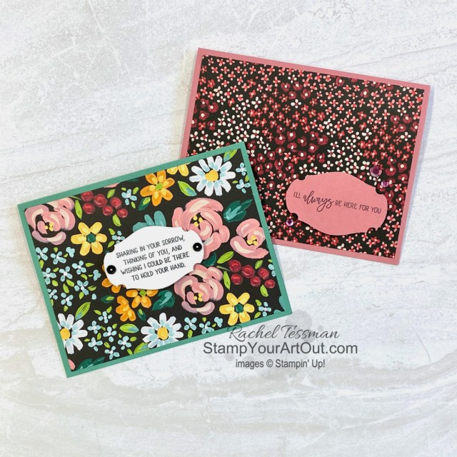 """I'm excited to share with you some alternate project ideas I came up with using the contents of the February 2021 Bouquet of Hope Paper Pumpkin Kit: several cards including a fun-fold card and a pop up card, a fun way to give chocolate, and a couple cute picnic baskets! Click here for photos of all these projects, a video with directions, measurements and tips, and a complete product list linked to my online store. Plus, you can see several other alternate project ideas created with this kit by fellow Stampin' Up! demonstrators in our blog hop: """"A Paper Pumpkin Thing""""! - Stampin' Up!® - Stamp Your Art Out! www.stampyourartout.com"""