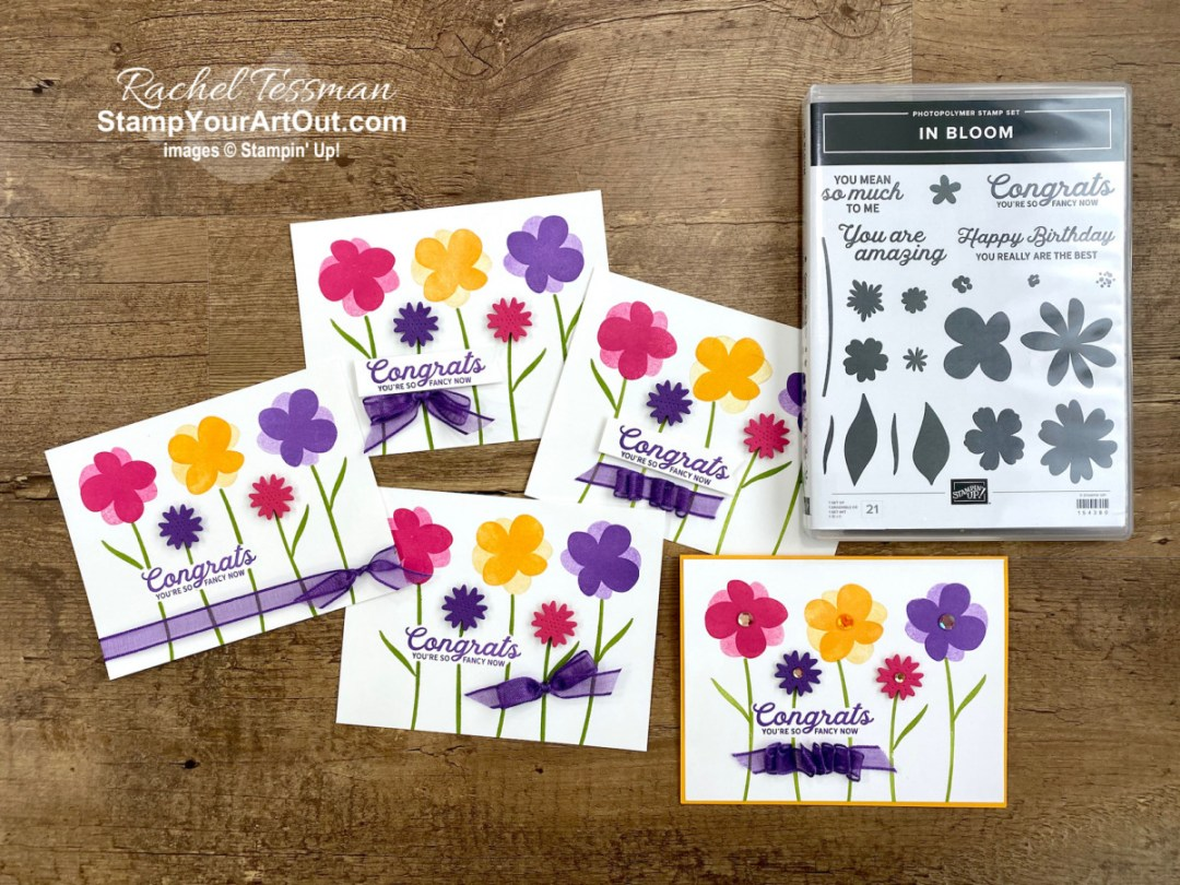 In Bloom Stamp Set & Pierced Blooms DIes...I CASEd a card I saw on the Stampin' Up! website. I love the bright colors and happy feel. Access directions, more photos, measurements, and links to all the products so you can make them, too. - Stampin' Up!® - Stamp Your Art Out! www.stampyourartout.com