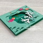 The Layering Diorama Dies paired with the Seascapes Bundle can create some fun underwater scenery cards. Want to learn how to make this one? Access more photos, measurements, directions, and a supply list by clicking here. Stampin' Up!® - Stamp Your Art Out! www.stampyourartout.com