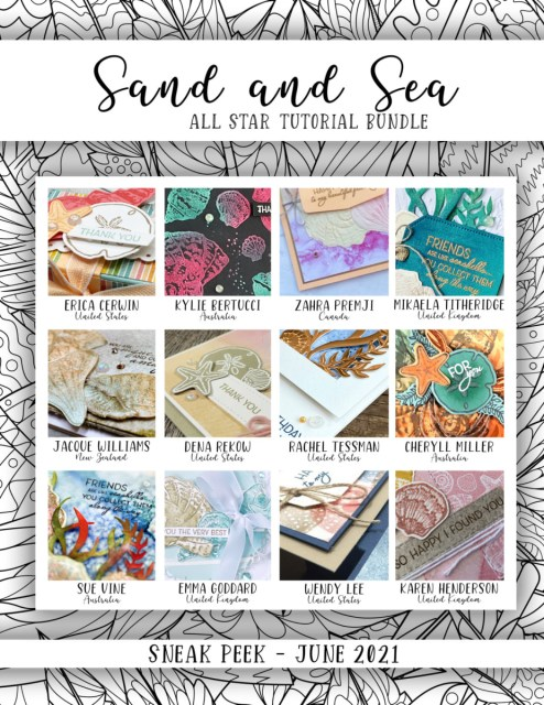 Here are the Sand & Sea Suite All Star Tutorial Bundle Peeks. Place an order in the month of June 2021 and get this bundle of 12 fabulous paper crafting project tutorials for free! Or purchase it for just $15. - Stampin' Up!® - Stamp Your Art Out! www.stampyourartout.com