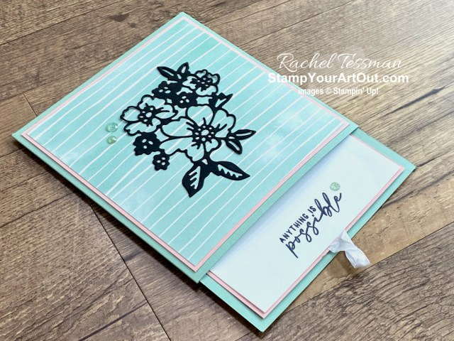 Click here to see my hidden flap-fold card that I made with the Hand-Penned Suite products: Hand-Penned Petals Stamp Set, coordinating Penned Flowers Dies, Genial Gems, and the Hand-Penned Designer Paper! - Stampin' Up!® - Stamp Your Art Out! www.stampyourartout.com