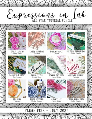 Here are the Expressions in Ink Suite All Star Tutorial Bundle Peeks. Place an order in the month of July 2021 and get this bundle of 12 fabulous paper crafting project tutorials for free! Or purchase it for just $15. - Stampin' Up!® - Stamp Your Art Out! www.stampyourartout.com
