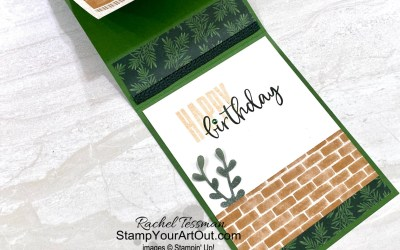 Bloom Where You're Planted Vertical Z-fold Card