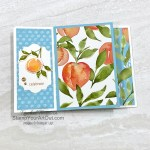 Click here to see a Six-Panel Pinwheel Tower card that shows off the Sweet Symmetry Designer Paper, In Symmetry Stamp Set, and Expressions in Ink Ephemera Pack as well as a Four-Panel Pinwheel Tower card that shows off the You're a Peach Designer Paper, Sweet As a Peach Stamp Set, Peach Dies, and Champagne Rhinestones. Access more photos, measurements, tips, and a supply list by clicking here. Stampin' Up!® - Stamp Your Art Out! www.stampyourartout.com