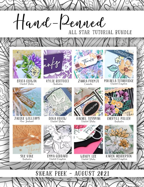 Here are the Hand-Penned Suite All Star Tutorial Bundle Peeks. Place an order in the month of August 2021 and get this bundle of 12 fabulous paper crafting project tutorials for free! Or purchase it for just $15. - Stampin' Up!® - Stamp Your Art Out! www.stampyourartout.com