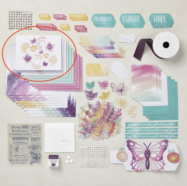 """The card base that challenged me a bit to alter from the August 2021 """"Hope Box"""" Paper Pumpkin Kit.  Click here to see what I came up with. - Stampin' Up!® - Stamp Your Art Out! www.stampyourartout.com"""