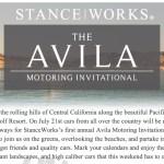 Avila Motoring Invitational : Save the Date!