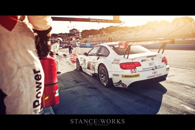 BMW ALMS pitstop