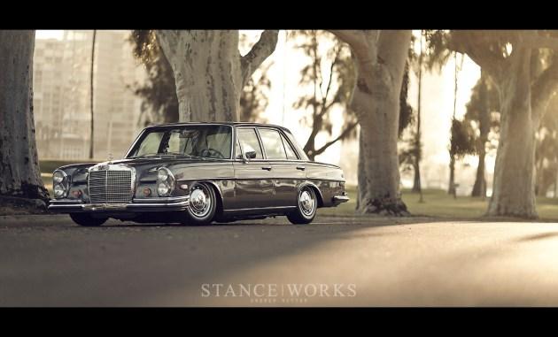 stance bagged mercedes benz 280se