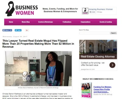SI-- Business Women write-up promo pic
