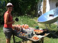 compot de caise la aragazul solar