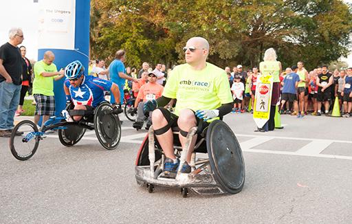 embrace wheelchaire participant