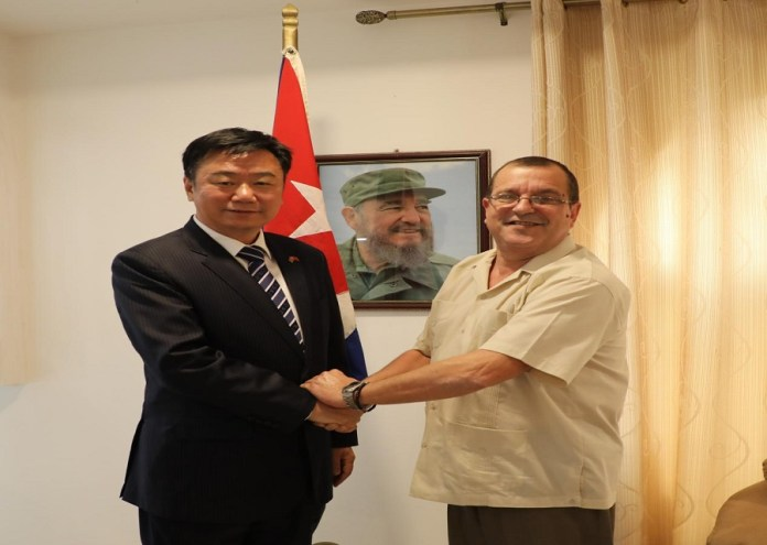 Chinese Ambassador and Cuban  Ambassador discuss tripartite development  cooperation with The Gambia