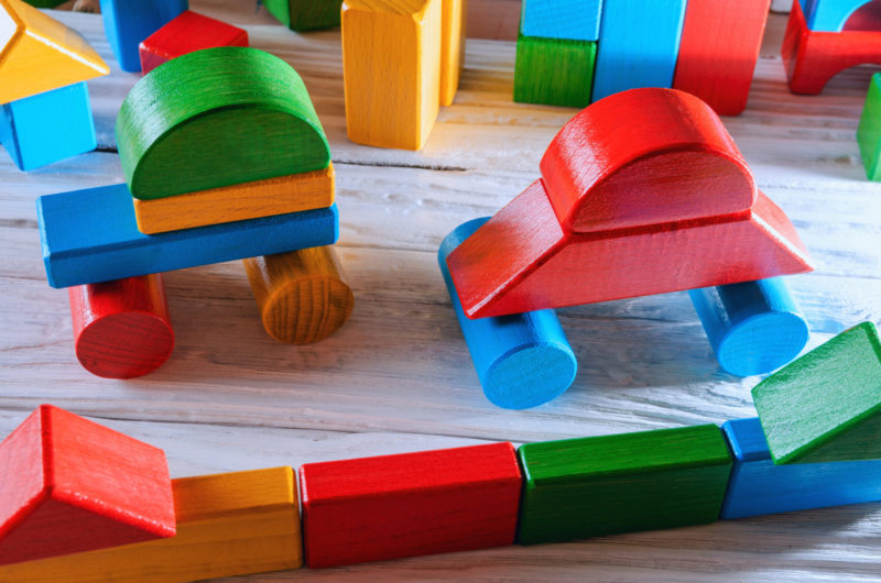Blocks- kids learning devices for shapes and building.