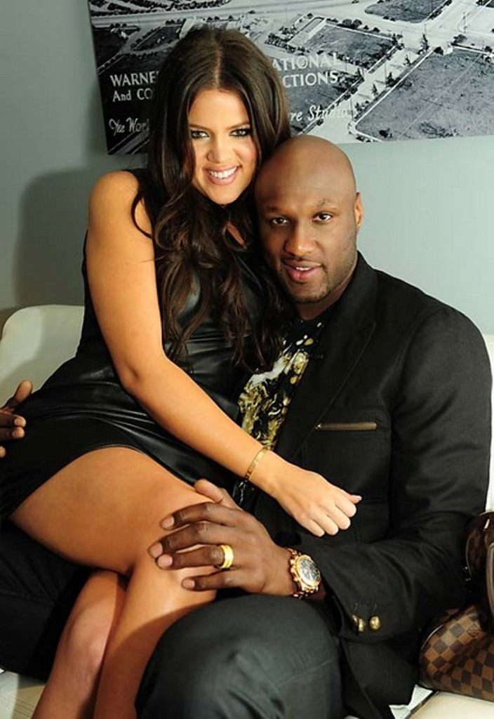 "EXCLUSIVE-Burbank,CA- 03/10/2010 - Khloe Kardashian and husband Lamar Odom backstage at a talk show to promote ""Keeping Up With The Kardashians"". -PICTURED: Khloe Kardashian, Lamar Odom-PHOTO by: Jake Holly/startraksphoto.com -JHLd12435"