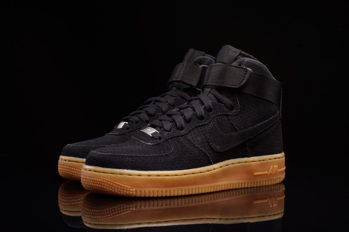 "Nike Air Force 1 High ""Black Suede Gum"""