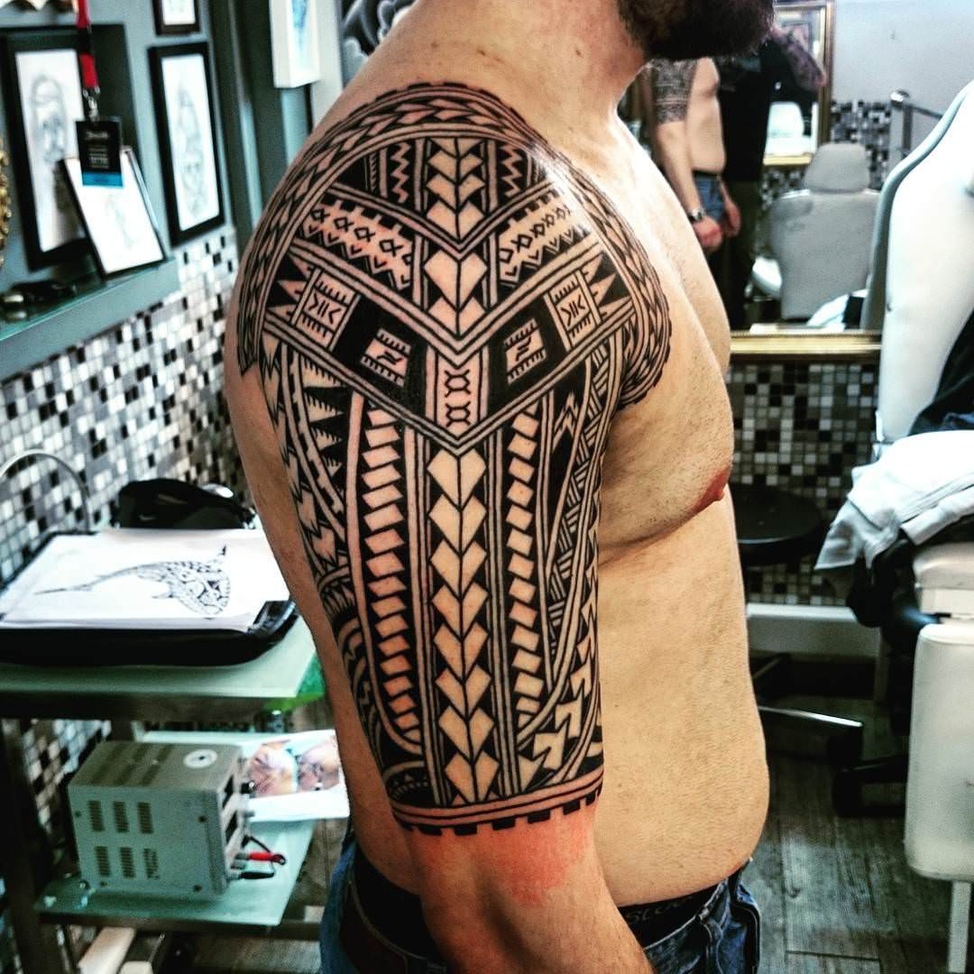 African Sleeve Tattoo