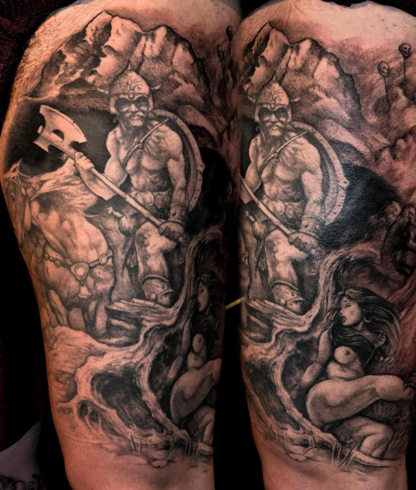 Viking Half Sleeve Tattoo Designs